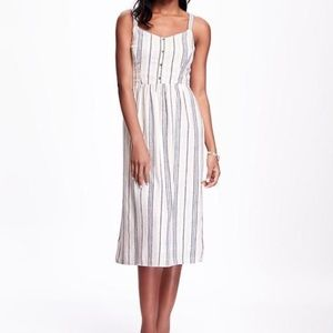 Old navy | striped midi dress size M